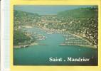 CPSM MV369 - SAINT MANDRIER (83 Var) Vue Générale Aérienne Sur Le Port (voir Description, 2scan) Circulé 1988 - Saint-Mandrier-sur-Mer