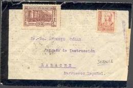 España 1937. Carta De Segovia A Larache. Marca No Catalogada. Censura. - Marcas De Censura Nacional