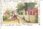 At The Turn Of The Street Nantucket Massachusetts Postmark Nantucket 1906 - Nantucket