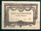 ETIQUETTE - HONORE PAYAN - EAU DE COLOGNE EXTRA VIEILLE 5x7cm - Labels