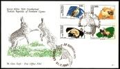 TURKISH REPUBLIC OF NORTHERN CYPRUS NICOSIA 1989 - ANIMALS - FDC - Unclassified