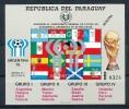 """PARAGUAY  Mi.Nr.Block 320 """"MUESTRA"""" Sport Fußball - Soccer  - MNH - Fußball-Weltmeisterschaft"""