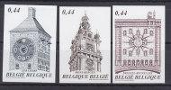 België, Nr 3396/3398 **, Ongetand-non Dentelee (B006) - Horlogerie
