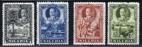 NIGERIA  Georg V Pictorials  SG37-9, 41 MH * - Nigeria (...-1960)