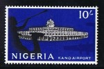 NIGERIA 1961  First Independant Definitives 10/- Kano Airport   SG 100 MH * - Nigeria (1961-...)