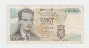 Belgium BELGIQUE 20 Francs 1964 VF+ P 138 - [ 2] 1831-... : Belgian Kingdom