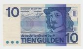 Netherlands 10 Gulden 25.04.1968 AXF CRISP Banknote P 91b 91 B - 10 Gulden