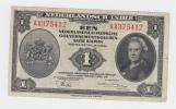 NETHERLANDS INDIES 1 GULDEN 1943 VF+ CRISP Banknote P 111 - Dutch East Indies