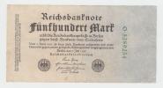 Germany 500 Mark 1922 AF Banknote (7 Green Digit) P 74b 74 B - 1918-1933: Weimarer Republik