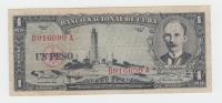 CUBA 1 PESO 1956 VF P 87a 87 A (No PayPal For This Item) - Cuba