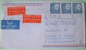 Sweden 1965 Cover To Praha Czech - Gustaf VI - Sweden