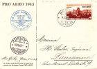 Suisse - Carte Postale De 1943 - Oblitération Spéciale - Valeur 60 FS +++   =  ±  45 Euros  +++ - Cartas