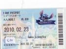 Disney * PASSPORT * Entreecard JAPON * TOKYO DISNEYLAND  (874) JAPAN PASS * CINEMA * FILM * LILO AND STITCH - Disney
