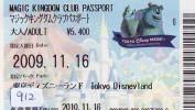 Disney * PASSPORT * Entreecard JAPON * TOKYO DISNEYLAND  (912) JAPAN PASS * CINEMA * FILM * MONSTERS - Disney