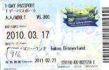 Disney * PASSPORT * Entreecard JAPON * TOKYO DISNEYLAND  (916) JAPAN PASS * CINEMA * FILM * TOY STORY - Disney
