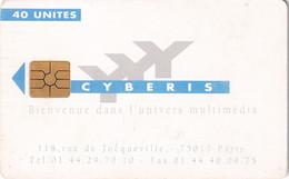 FRANCE - Cyberis Internet Card 40 Units, Recto Cyberis 1(verso Gemplus), Used - Frankreich