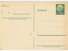 Saarland Postcarte 15 F Grün, Unused.