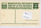 Switserland: Postcard 1914 Bundesfeier, Imprinted Entwerted / Annule/Annulato - Interi Postali