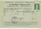 Switserland: Taxpflichtiger Empfangschein, Zurich 1912 - Postwaardestukken
