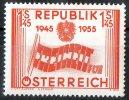 Austria 1955 10th Anniversary Of Republic 1s45 Freedom MH  SG 1271 - 1945-60 Unused Stamps