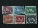 Belgisch Congo Belge 1958 Belgische Koningen Rois Belges Yv 344-349 O - 1947-60: Gebraucht