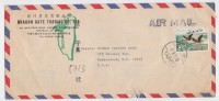 Taïwan Cover To Usa - Taïpei 1971 - Birds - 1945-... République De Chine
