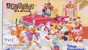 Télécarte Japon  (3415)   DISNEY Phonecard Japan * Telefonkarte Japan * AMERICAN OLDIES - Disney