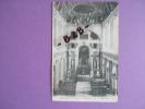 CPA 77 - FONTAINEBLEAU - CHAPELLE DE LA TRINITE Publicité EPICERIE Spécialité De Cafés Et Thés MONNET 63 Rue D´Argout - Publicité