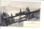 Rigibahn Schnurtobelbrucke Und Pilatus Railway Railroad Train - Trenes