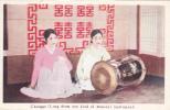 Two Girls & Changgo Drum , Japan , 1910s - Unclassified