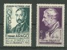 """France** Y & T  N°793 & 794  """"Louis Braille & Etienne Arago"""" - France"""