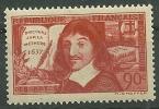"""France** Y&T N°341 """" Descartes Discours Sur La Méthode"""" - France"""