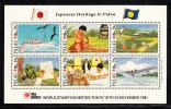 Palau Scott #295 MNH Sheetlet Of 6 29c Japanese Heritage In Palau - Phila Nippon 91 - Palau