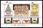 Palau Scott #293 MNH Sheetlet Of 8 29c Republic Of Palau 10th Anniversary - Palau