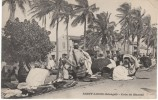 St. Louis Senegal, Corner Street Market, Street Scene, On C1900s Vintage Postcard - Senegal