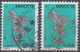 MAYOTTE  N°158/158a__OBL  VOIR  SCAN - Oblitérés
