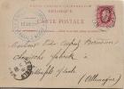 G0200 Belgique Entier De Hyon-Ciply à Weissenfels (Allemagne Germany ) - 1882 - Postwaardestukken
