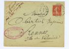 France Entier Enveloppe 10 C Semeuse Camée, 1910  Algers Draa El Mizan  A Rennes