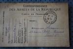 14e SMA 33e CIE SP169 P/PARIS  GUERRE 14/18  CARTE FRANCHISE MILITAIRE CORRESPONDANCE ARMEES REPUBLIQUE - Marcophilie (Lettres)