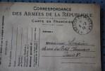 14e SMA 33e CIE SP 30 P/PARIS  8 GUERRE 14/18  CARTE FRANCHISE MILITAIRE CORRESPONDANCE ARMEES REPUBLIQUE - Marcophilie (Lettres)