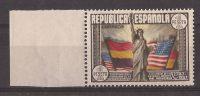 ES763SGDEV-L37241TAE.España .Spain Espagne  CONSTITUCION USA 1938 (Ed 763**)sin Charnela.MAGNIFICA BORDE DE HOJA - Escultura