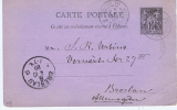 France Carte Postal, 1889  Paris  ->  Breslau Allemagne / Deutschland - Biglietto Postale