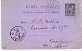 France Carte Postal, 1889  Paris  ->  Breslau Allemagne / Deutschland