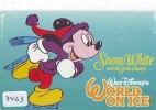 Télécarte Japon  (3462)   DISNEY Phonecard Japan * Telefonkarte Japan * CINEMA * FILM * SNOWWHITE * La BELLE NEIGE - Disney