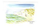 Etretat: La Cote D' Albatre, Falaise D' Amont, Aquarelle Annick Balaresque (11-912) - Etretat