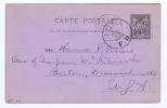 France Carte Postal, 1889   Paris->  Boston MA  USA, - Biglietto Postale