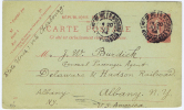 France Carte Postal, 1904   Bigorre  Hautes Pyr.->  Albany New York  USA, Via Cherbourg - Biglietto Postale