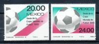 MEXIKO Mi.Nr. 1919-1920 Soccer Fußball WM Mexiko 1986 -MNH - Fußball-Weltmeisterschaft