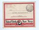 803/17 -  ALLEMAGNE POULES - Enveloppe Illustrée En PORT PAYE 1923 GROSS SALZE - Kukirol Fabrik - Farm