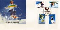 Australia 1984 Skiing FDC - Slalom, Nordic, Downhill, Freestyle - Adelaide SA - Skiing